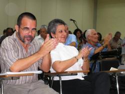 Jorge Santana, Concepción Nieves Ayús y Fabio Grobart