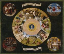 Mesa de los pecados capitales