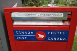 Canada Post out of service. Photo: Stephen Rees