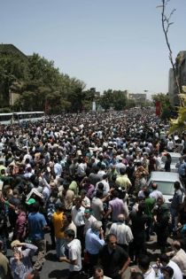 Demonstration in Tehran, July 17. Photo by .faramarz