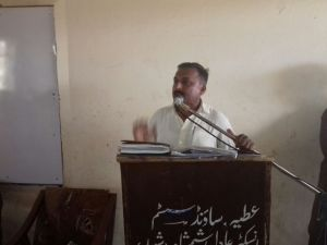 PTU leader speaking at seminar