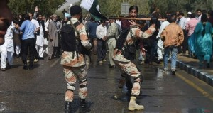 Rangers lathi charge on PIA employees