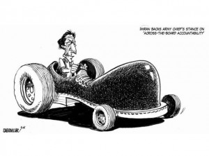 imran khan and army boot cartoon