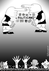 pakistani politicians and people cartoon