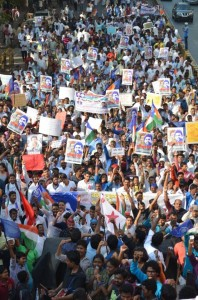 protest against rohit vemula's institutional killing