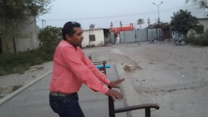 Comrade Jalil speaking May Day Program at Gulistan Textile Mill Bahawalpur