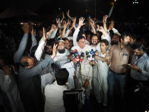 PTU-President-Sajjad-Akbar-Kazmi-Addressing-Sit-in-Protest