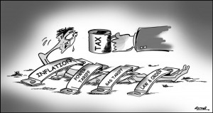 Pakistan, Tax and people cartoon