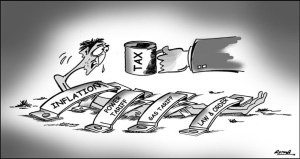 Pakistan, Tax and people cartoon