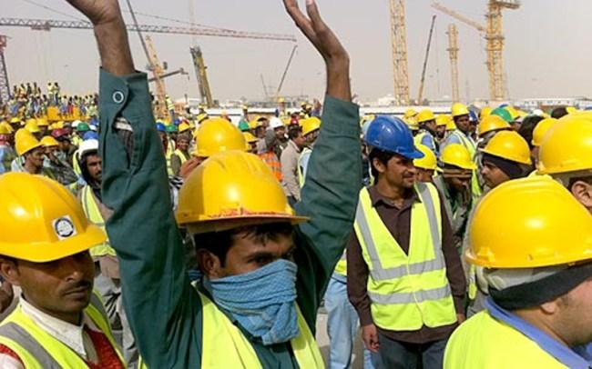 سعودی بن لادن کمپنی کے ملازمین نوکریوں سے جبری برخاستگی کے خلاف احتجاج کر رہے ہیں