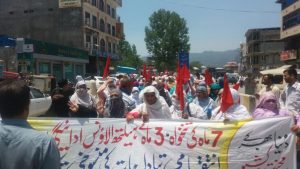 Health Workers Protest in Rawalakot 03