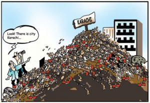 Pollution In Karachi cartoon