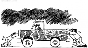 Rangers Operation In Karachi cartoon