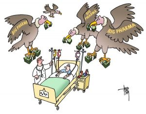 Big Pharma Vultures Cartoon