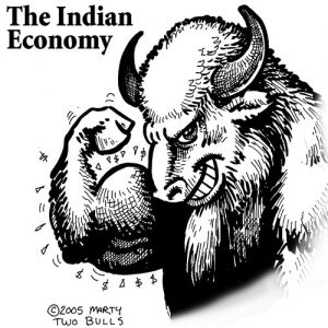 Indian Economy Cartoon
