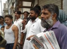 فیصل آباد: کم از کم اجرت پر عملدرآمد کے لئے پاور لومز کے مزدوروں کا جلسہ