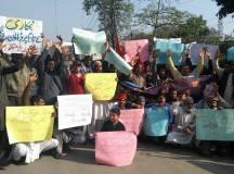لاہور: تنخواہوں کی عدم ادائیگی اور نجکاری کیخلاف پاکستان سٹیل ملز کے محنت کشوں کا احتجاجی مظاہرہ