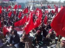 کوئٹہ: پی ڈبلیو ڈی ایمپلائز یونین کے بھوک ہڑتالی کیمپ کے 117 ویں دن کے موقع پر احتجاجی ریلی و جلسہ
