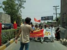 فیصل آباد: یوم مئی 2018ء کے موقع پر ریلی کا انعقاد