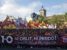 اسپین : کیٹالان آزادی ریفرنڈم کی سالگرہ کے موقع پر عوامی مظاہرے