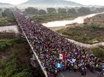 وسطی امریکی نقل مکانی کارواں کے ساتھ بین الاقوامی یکجہتی