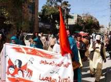 کوئٹہ: محنت کش خواتین کے عالمی دن پر احتجاجی ریلی اور مظاہرے کا انعقاد