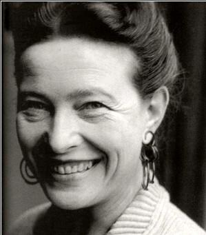 Simone de Beauvoir Smiling Brightly
