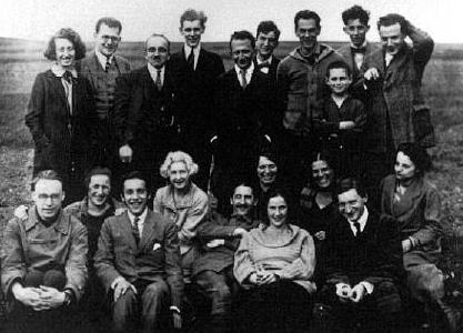 group who attended the Marxist Work Week in 1923 which led to the launching of the Institut: Friedrich Pollock, Georg Lukacs, Felix Weil, Karl Wittfogel, Rose Wittfogel, Christiane Sorge, Karl Korsch