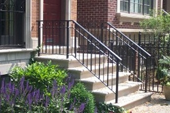 Stair Railing Installation Handrails For Concrete Steps | Outdoor Stair Railing Installation | Balcony | Steel | Metal | Patio | Residential