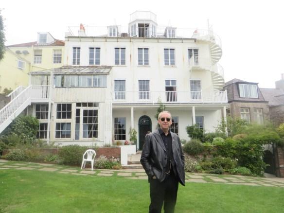 Bryan in Hugo's garden