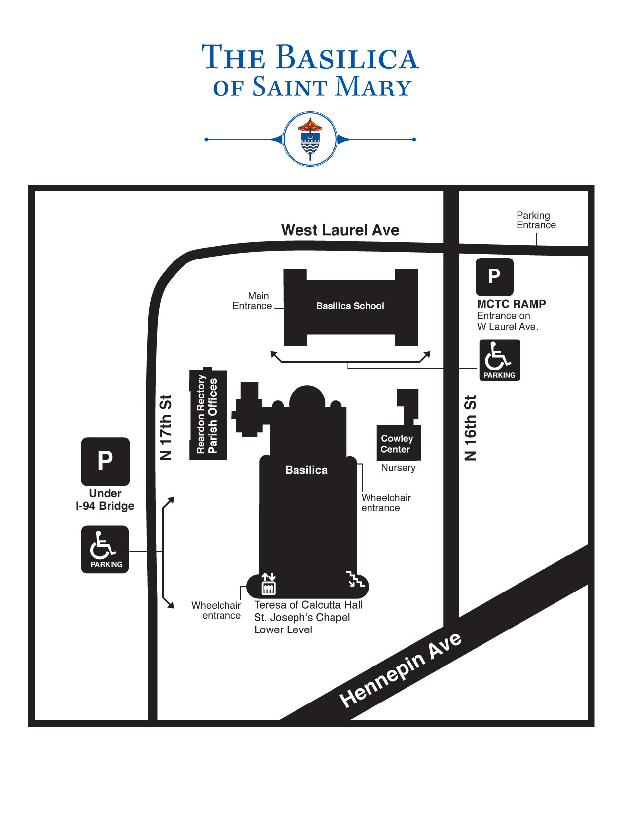 hight resolution of download view a map of the basilica campus