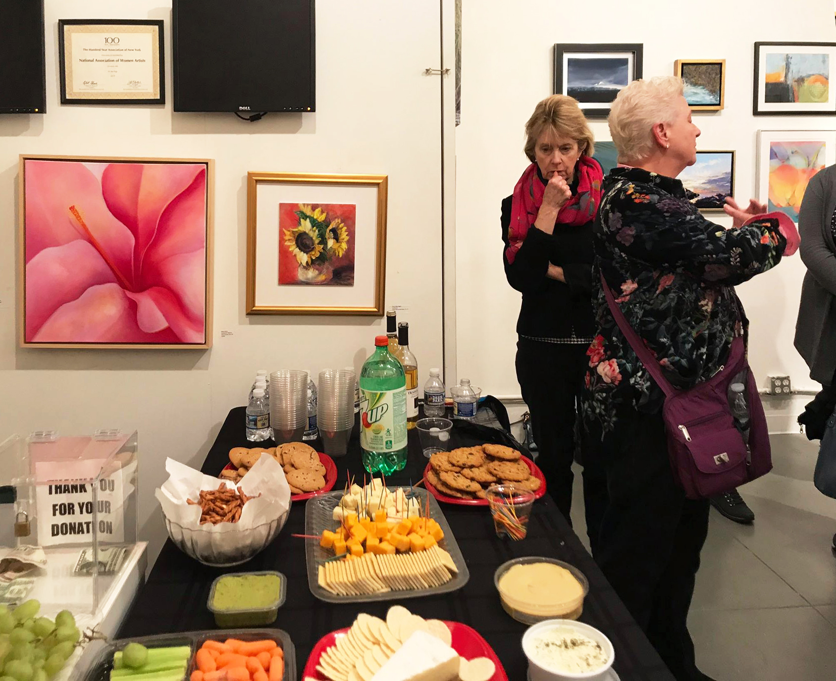 NAWA Opening Reception with Mary Ahern
