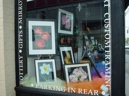 Window display at the Bellemeade Gallery, Smithtown NY.
