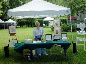 Northport Art in the Park. July 2008. Mary Ahern the artist.