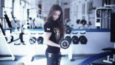 beautiful doing workout