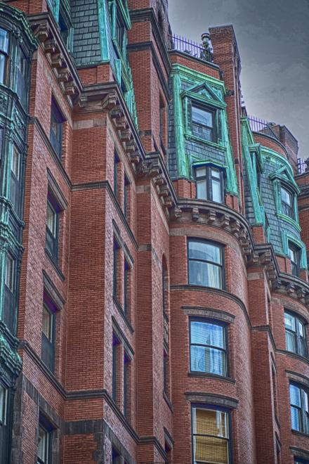 Regal townhouses line Beacon Hill in Boston marvelously blending the old and the new.