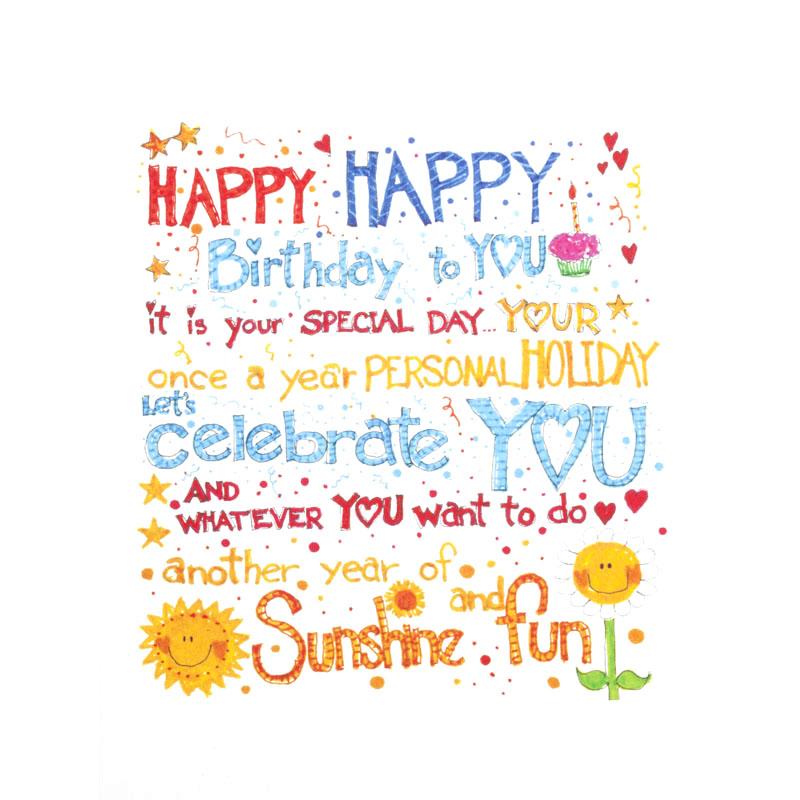 happy happy birthday to