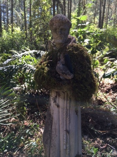 St. Francis in his moss shawl
