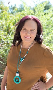 psychic intuitive medium Reverend Marya OMalley wearing turquoise necklace