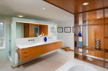 floating vanity wall Mary Cerrone Architecture & Interiors Pittsburgh