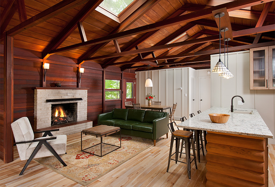 redwood cabin Mary Cerrone Architecture & Interiors Pittsburgh