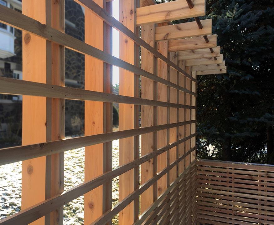 custom cedar deck detail, pittsburgh, pa
