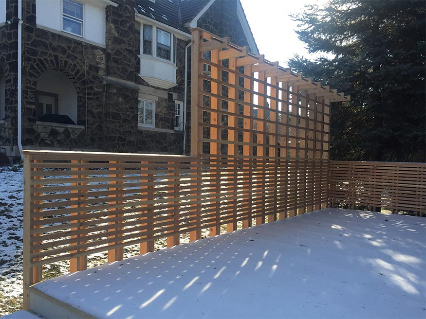 custom cedar deck railings, pittsburgh, pa