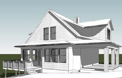 Overlook House, Pittsburgh, PA, rendering