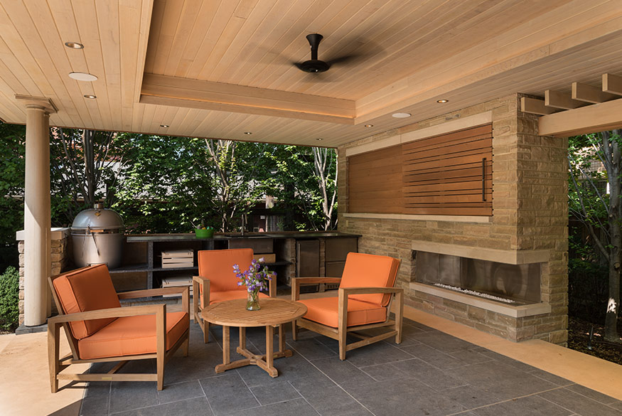 Pool Pavilion, Interior Closeup. aMary Cerrone Architect, Shadyside, PA