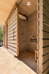 Pool Pavilion, Shower Interior. Mary Cerrone Architect, Shadyside, PA