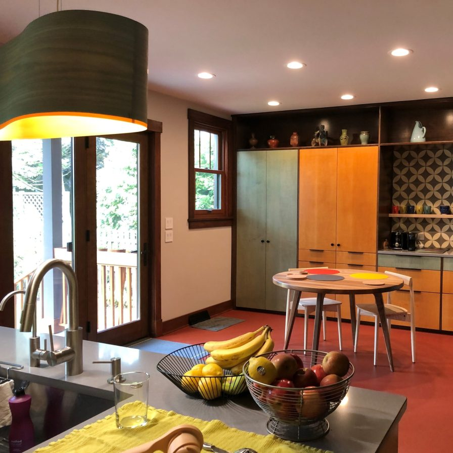kitchen across back of house Mary Cerrone Architecture & Interiors Pittsburgh