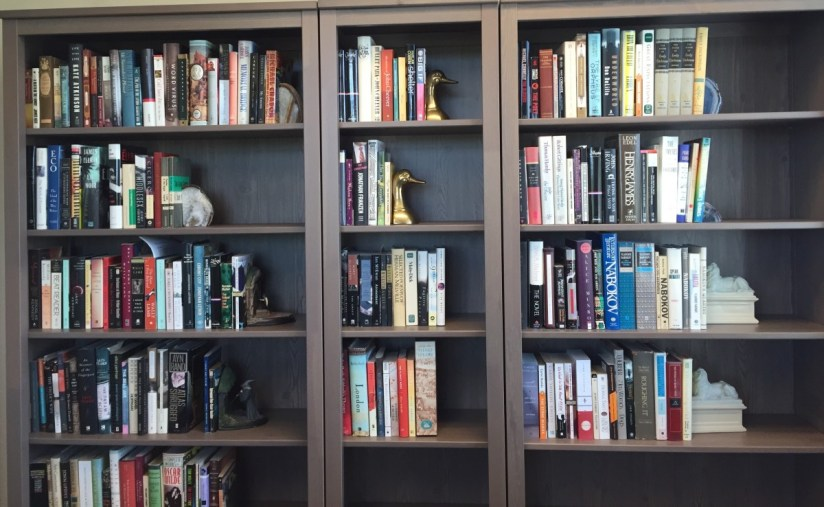 bookshelves in my office