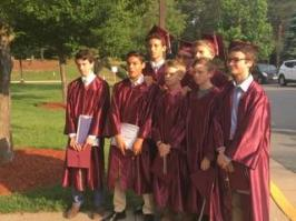 Some of JP's buddies ... almost all will head to high school with him!