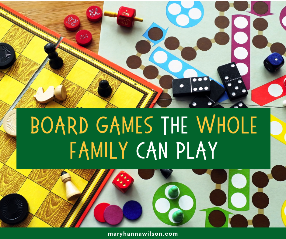Family board games that all ages can enjoy together.